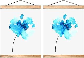 Poen 2 Sets Magnetic Poster Hanger Wooden Poster Hanger Frame DIY Artwork Hanger for Photo Picture Artwork Supplies (10 Inch)
