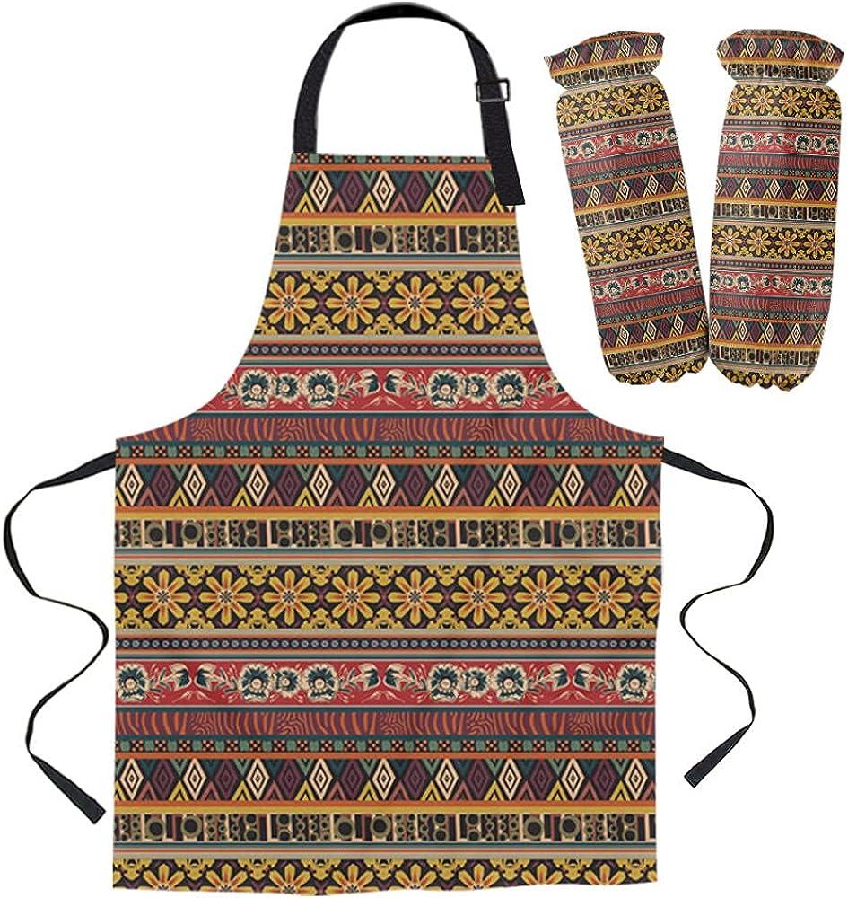 Apron Kit Popular product Retro European Pattern Kitchen For Bib Cooki Max 73% OFF Oven Mids