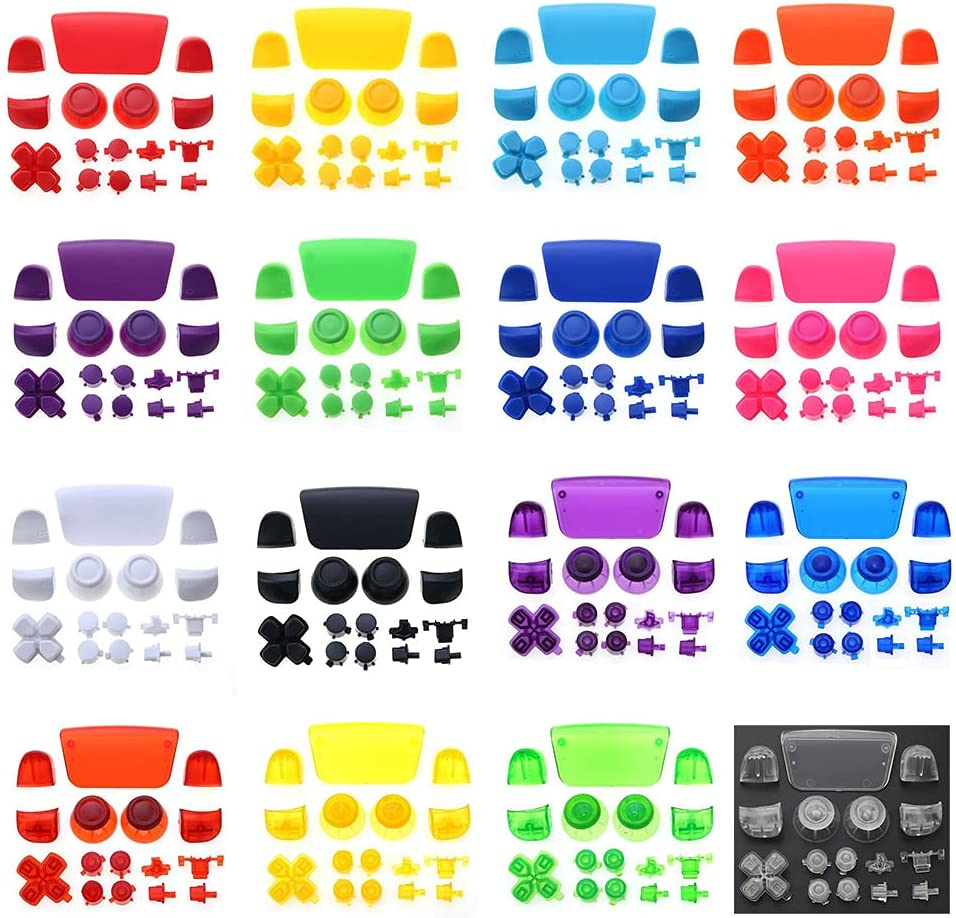 Full Buttons Set for PS5 Joysticks Dpad R1 L1 R2 L2 Direction Key ABXY Buttons Trigger Button Cap Cover for Sony Playstion 5 PS5 Game Console (Purple)