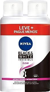 Kit Desodorante Aerossol Nivea Black & White Clear 150Ml - 2 Unidades, Nivea, Pacote de 2