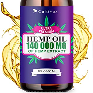 Hemp Oil 7 500mg for Pain Relief, Relaxation, Better Sleep, All Natural, Pure Extract, Vegan Friendly