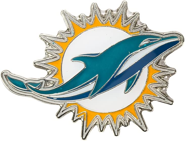 aminco Omaha Mall NFL Miami Dolphins Team Pin NFL-PN-001- OFFicial team color Logo