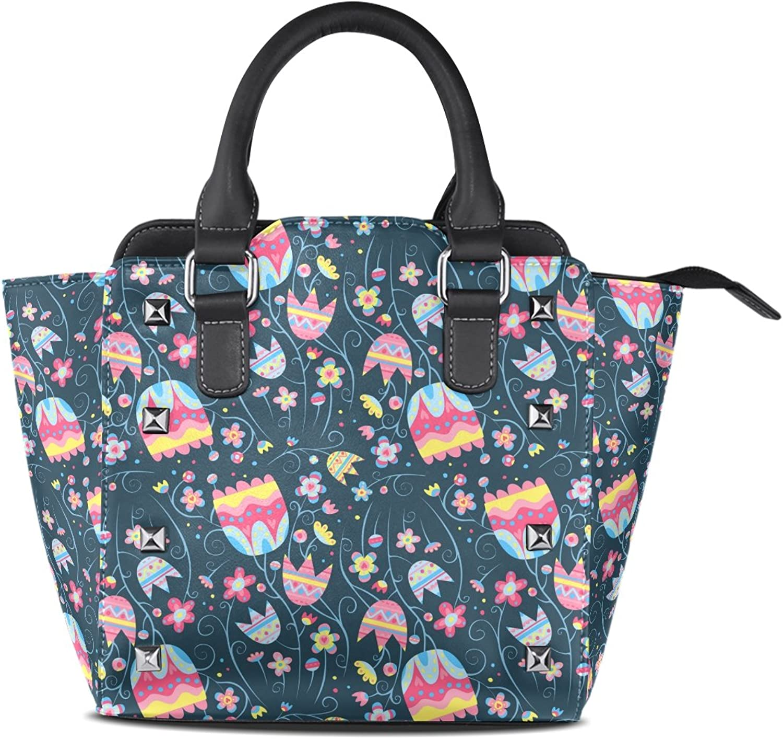 My Little Nest Women's Top Handle Satchel Handbag Beautiful Flowers Ladies PU Leather Shoulder Bag Crossbody Bag
