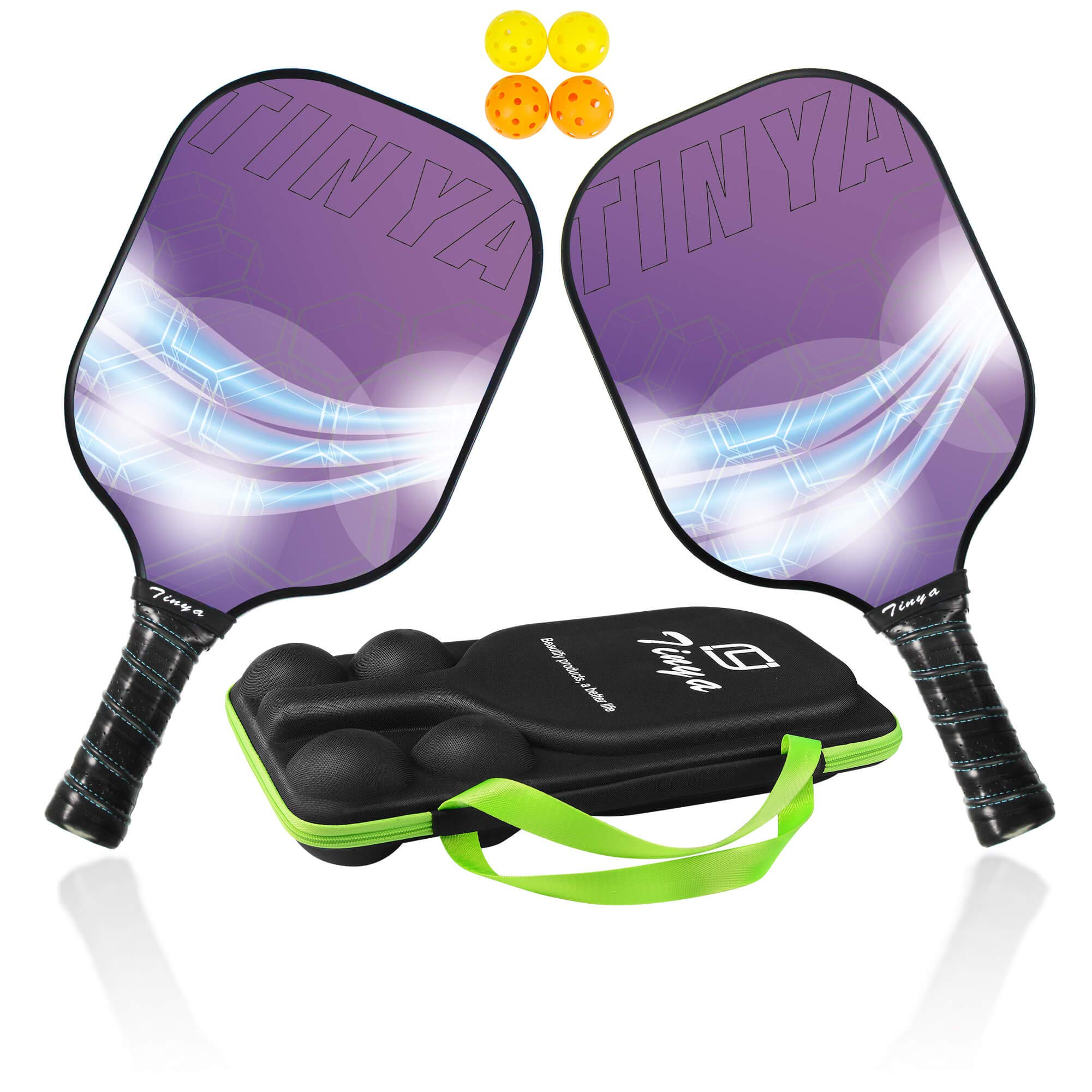 EDEUOEY Graphite Pickleball Paddle Set: USAPA Approved -X6CQ