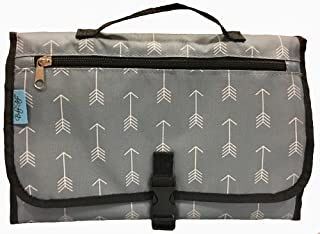 Sale - Baby Steps - The Best Portable Diaper Change Pad & Compact Diapers Bag -Travel Pronto Changing Station Mat – Grey Arrows - Perfect Baby Shower Gift or Present For Mom of Newborn Boys or Girls