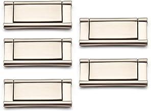 "Drawer Handle Pull Hidden Furniture Handle Zinc Alloy Modern Lifting Cabinet Hardware 2.9"" for Kitchen, Living Room, 5 PCS"