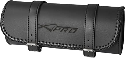 A-Pro Pannier Heavy Duty Motorbike Motorcycle Cruiser Tool Bags custom Black