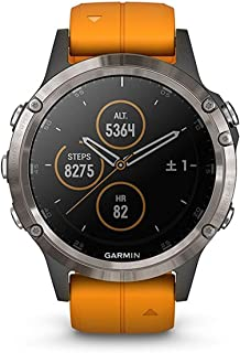GARMIN(ガーミン) fenix 5 Plus Sapphire Ti Gray 音楽再生機能 マルチスポーツ型GPSウォッチ 最大10日間稼働 【日本正規品】