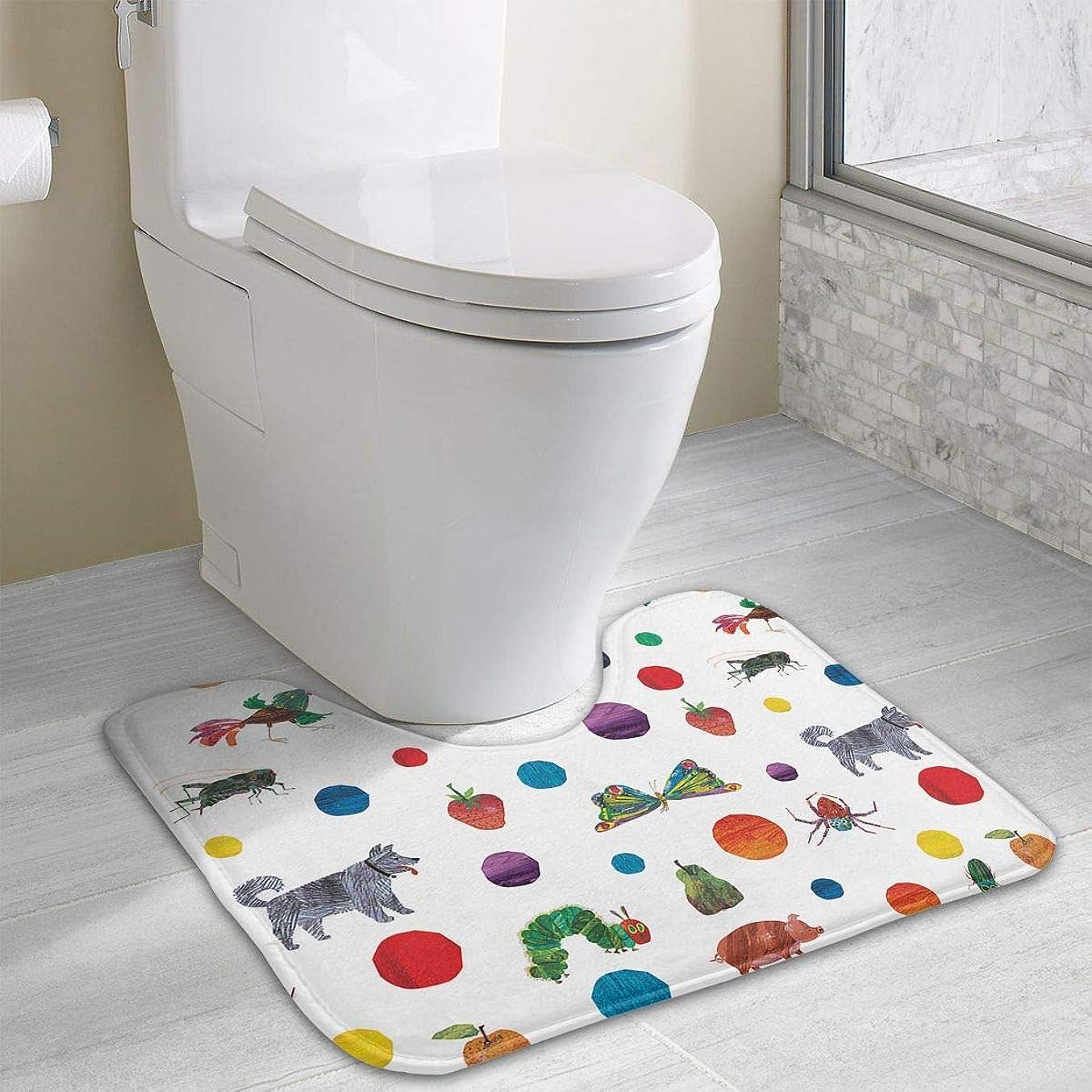 エンディング挑発する一目Namiha はらぺこあおむし トイレマット 浴室足ふきマット 風呂マット クッション 敷き物 泥落とし 便座 カーペット
