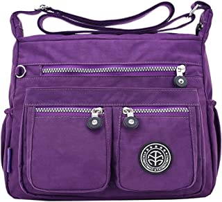 Wultia - Bags for Women 2019 Women's Fashion Solid Color Water Repellent Nylon Shoulder Bag Crossbody Bag Bolsa Feminina Purple
