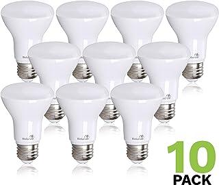 10 Pack Bioluz LED BR20 LED Bulb 2700K Warm White 90 CRI Dimmable UL-Listed CEC JA8 Title 24 Compliant 525 Lumen Outdoor/Indoor Flood Light (Pack of 10)
