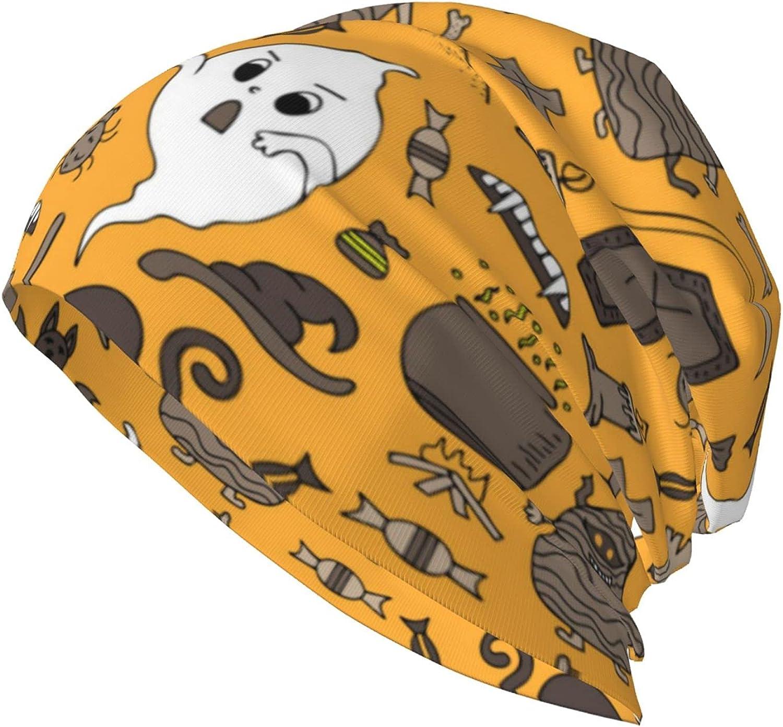 Halloween Pumpkin Vampire Zombie Baggy Soft Slouchy Beanie Hat Hip-Hop Chemo Cap Wrap Cap for Men Women