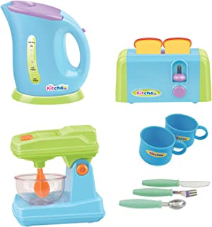Liberty Imports Gourmet Kitchen Appliances Toy Pretend Play Set for Kids with Mixer, Toaster, Kettle and Accessories