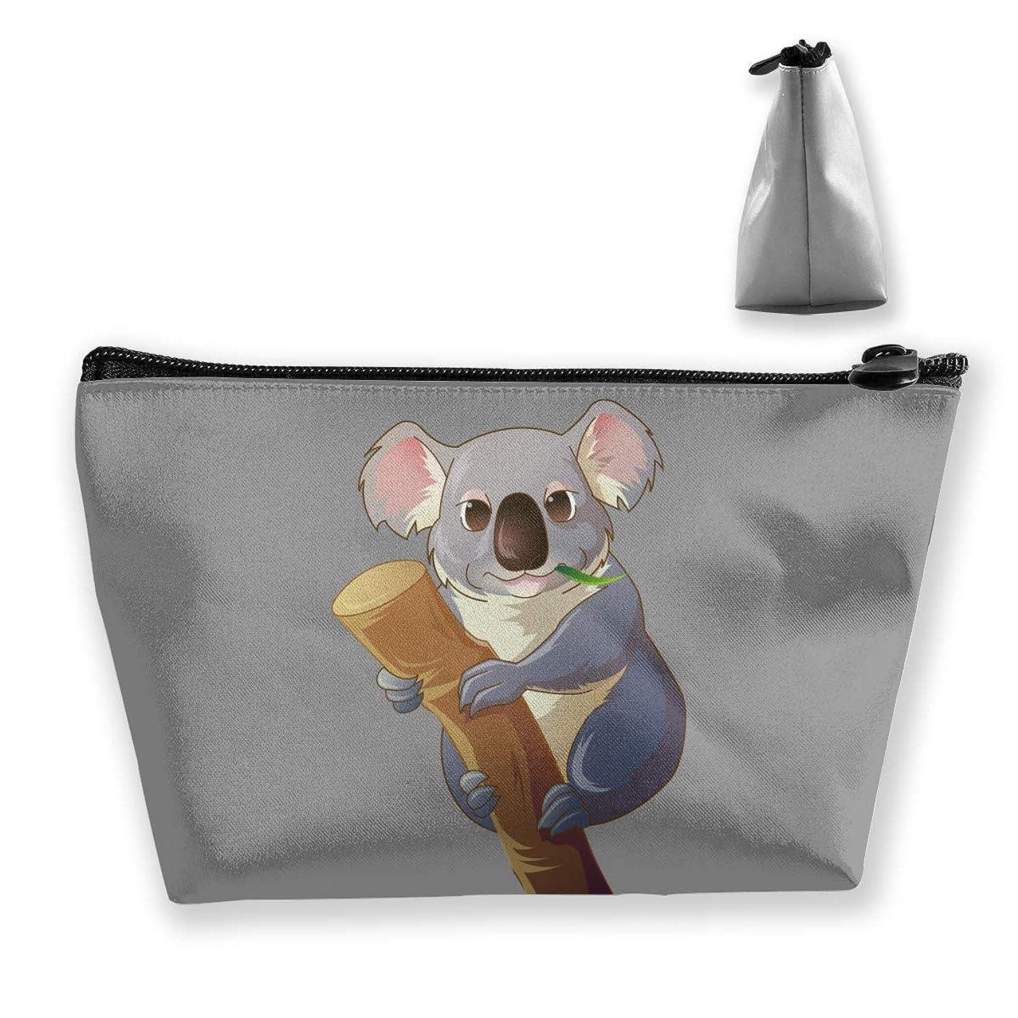 単なる歩行者擬人コアラ ペンケース文房具バッグ大容量ペンケース化粧品袋収納袋男の子と女の子多機能浴室シャワーバッグ旅行ポータブルストレージバッグ