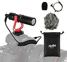 Moukey MCM-1 DSLR Camera Microphone, External Video Mic Shotgun for Phone, Smartphone,..