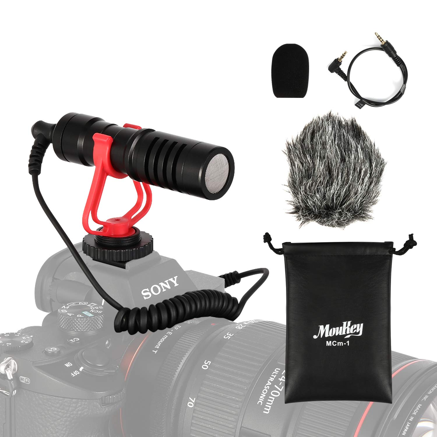 Moukey Microphone External Smartphone Vlogging
