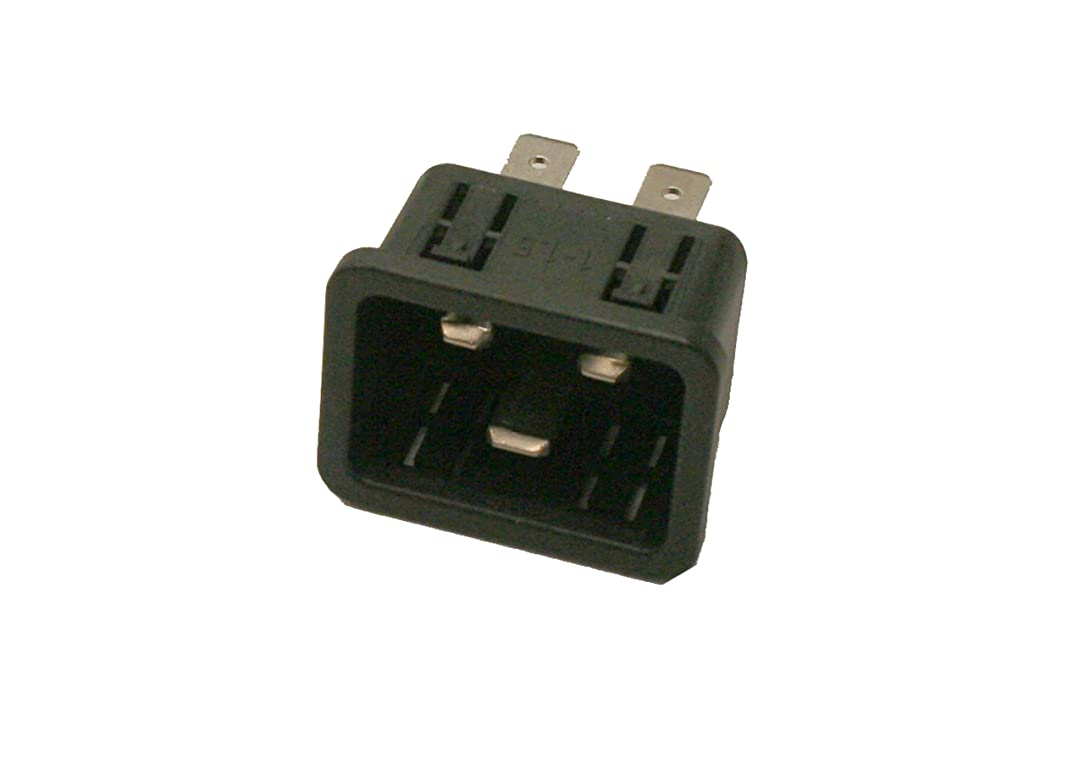Interpower 83030420 IEC 60320 C20 Power Inlet With Quick Disconnects, IEC 60320 C20 Socket Type, 1-1.5mm/18 Gauge Panel Thickness, Black, 16A/20A Rating, 250VAC Rating