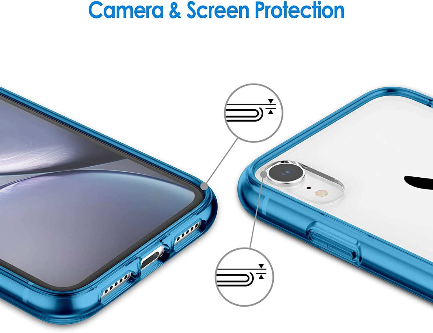 JETech Case for iPhone XR 6.1-Inch, Shock-Absorption Bumper Cover, Blue