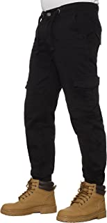 Enzo Mens Cuffed Jeans Cargo Combat Work Casual Jogger Trousers New