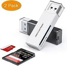 Honmax Lector Tarjetas de Memoria SD/Micro SD, Adaptador Micro SD y Lector de Ttarjetas USB 3.0 para Computadora/Laptop/Tableta, Compatible con Windows/Mac OS