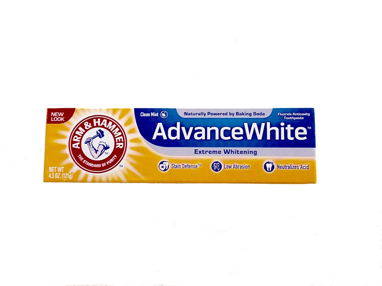 患者つぼみ嫌いArm & Hammer Advance White Fluoride Anti-Cavity Toothpaste with Baking Soda & Peroxide - 4.3 oz by Arm & Hammer [並行輸入品]