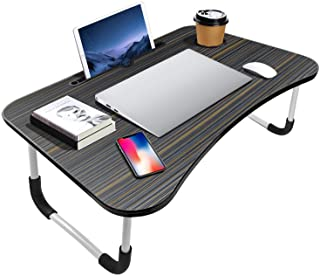 KPX Portable Laptop Bed Table, Fordable Lap Desk with Cup Slot & Notebook Stand Breakfast Bed Trays for Eating and Laptops...