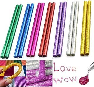 Xinlie Glitter Hot Melt Glue Sticks pegamento de color para pistolas de pegamento calienteØ11 mm14 piezas sticks de pegamento de color Pegamento caliente sticks sticks en7colores diferentes(14piezas)