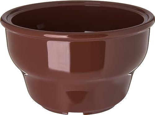 Carlisle 455328Mélamine Deep Salsa Bol, 226,8gram. Contenance, 6cm Hauteur X 10,5cm de diamètre à lèvres, Lennox Marron (cas de 36)