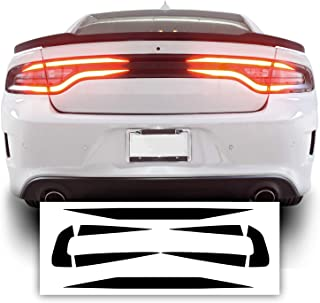 Bogar Tech Designs Tail Light Race Track Bat Vinyl Overlay Decal Cover Compatible with Dodge Charger 2015-2021 - Gloss Black