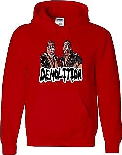 Shedd Shirts RED Yokozuna Bonzai WWF Hooded Sweatshirt