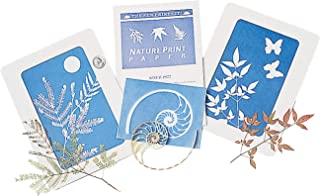 Fun Express - Nature Print Sun-Sensitive Paper (12pc) - Educational - Teaching Aids - Science - 12 Pieces