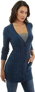 PattyBoutik Women Cable Knit Pocket Cardigan