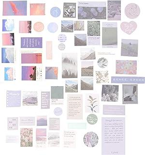 ULTNICE 120pcs Scrapbooking Sticker Vintage Washi Paper Sticker Planner Diary Card Making Notebook DIY Art Craft Decoratio...