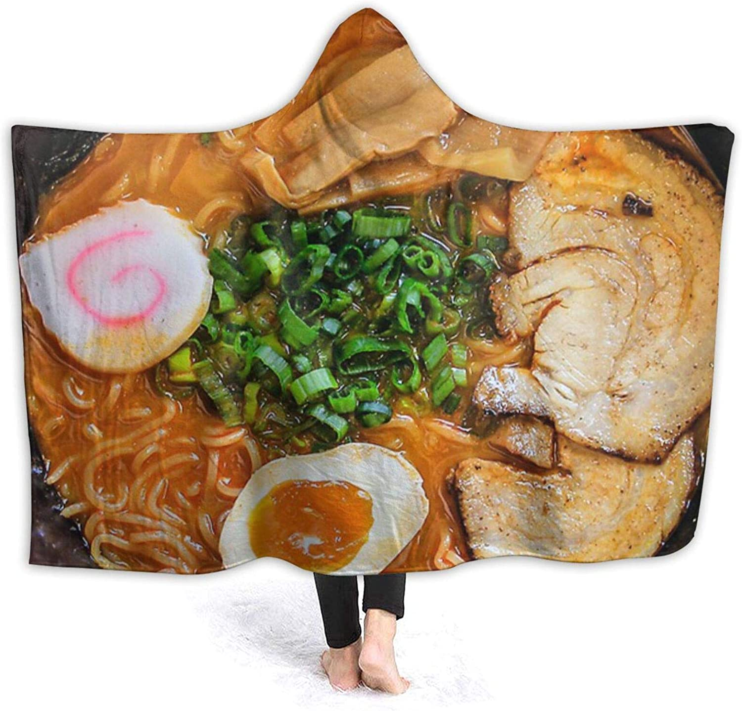 New products, world's highest quality popular! Funny Cute Ramen Noodles Max 57% OFF Hooded Thro Soft Ultra Wearable Blanket