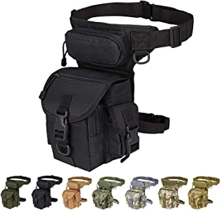 Injoy Multi-Purpose Tactical Drop Leg Bag Tool Fanny Thigh Pack Leg Rig Military Motorcycle Camera Versipack Utility Pouch, Black/Coyote Tan/Army Green/Camouflage 7 Colors Available