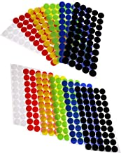 Mini Skater 600Pcs (300 Pairs) 20 mm/0.78 Inch Diameter Self Adhesive Nylon Sticky Back Coins Hook Loop Fastener Round Dot Stickers Tapes for Sewing Clothing Hanging Kids Picture Crafts (6 Color)