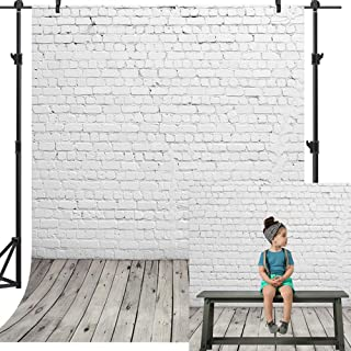 Dobeans Hintergrund für Fotografie, Vinyl, rustikal, Weiß, 1,5 x 2,1 m