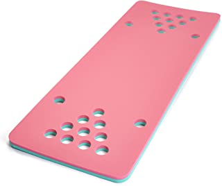 Floatation iQ HydraPong - Regulation Size Floating Beer Pong/Beirut Table and Pool Game - Made in The USA w/Durable (PE) Tear Resistant Foam (Pink/Turquoise)