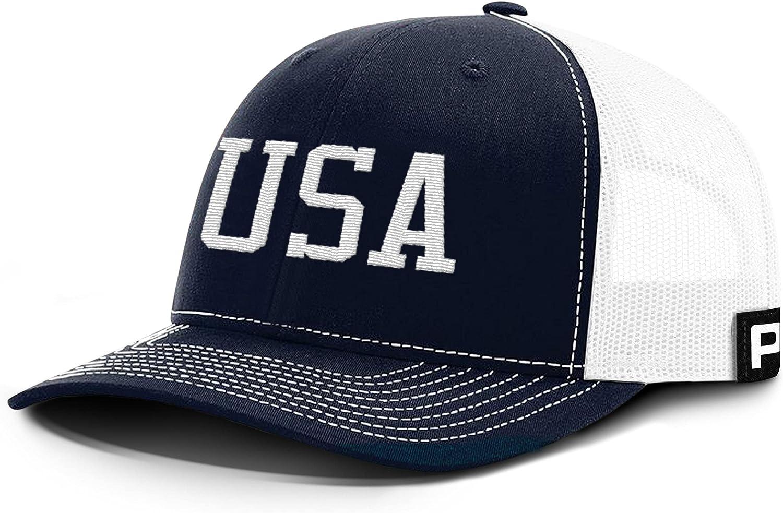 Printed Kicks USA Patriotic Cap Back Mesh Hat United States American Baseball Caps