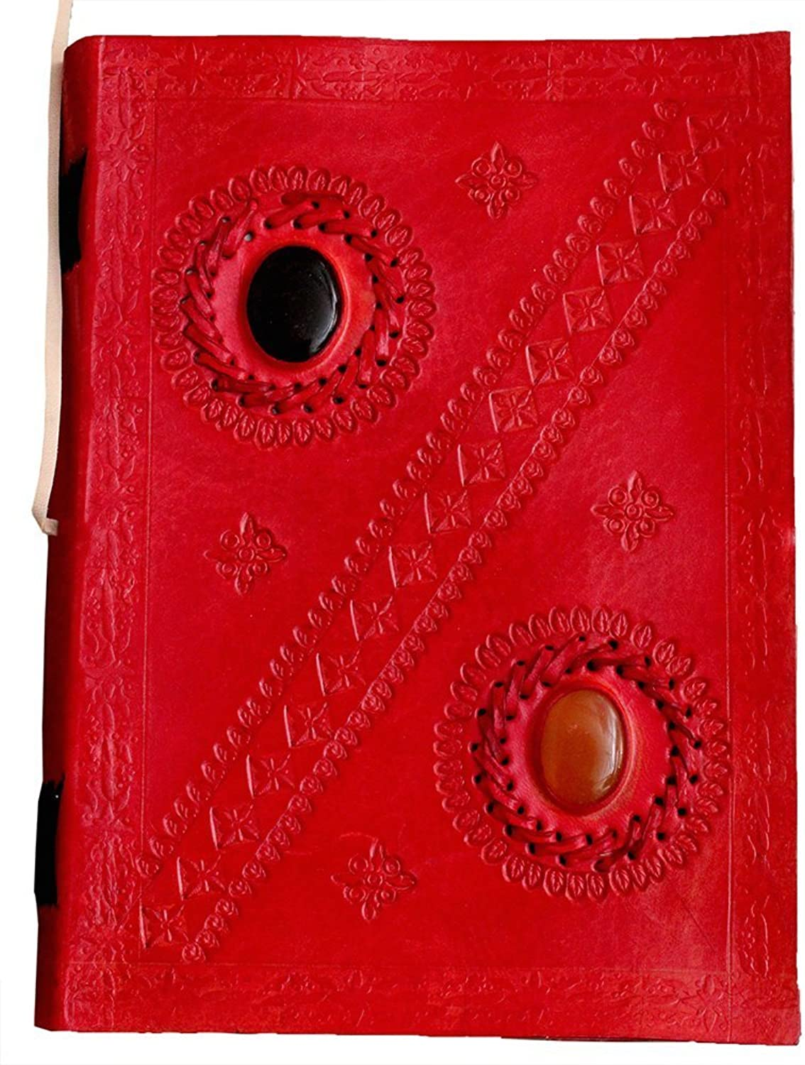 Prastara Leather Writing Journal Notebook Travel Diary Sketchbook Gifts with Unlined Travel Journals to Write