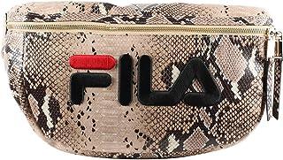 Fila Women Waist Bag Gold Snake Allover Maxi Marsupio 685205 A550