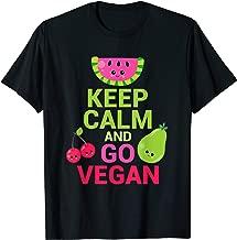 Colorful, Funny & Cute Kawaii Fruit - Keep Calm and Go Vegan T-Shirt