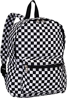 Luggage Multi Pattern Backpack, Checkered, Medium