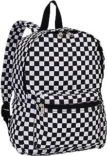 Luggage Multi Pattern Backpack, Checkered, Medium