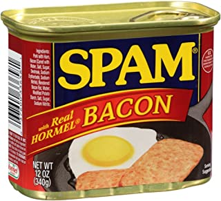 Spam with Real Hormel Bacon Luncheon Meat 12 oz (Pack of 12)