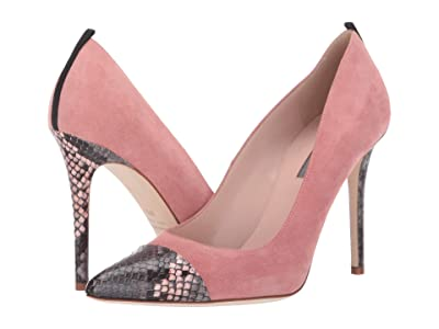 SJP by Sarah Jessica Parker Clarice (Pink Suede/Grey/Pink Snake Print) Women