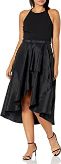 Eliza J Women's Halter High Low Belted Dress