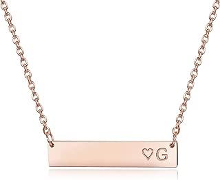 gold bar necklace monogram
