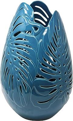 Benzara Stunning Ceramic Decorative Vase Blue BM162403