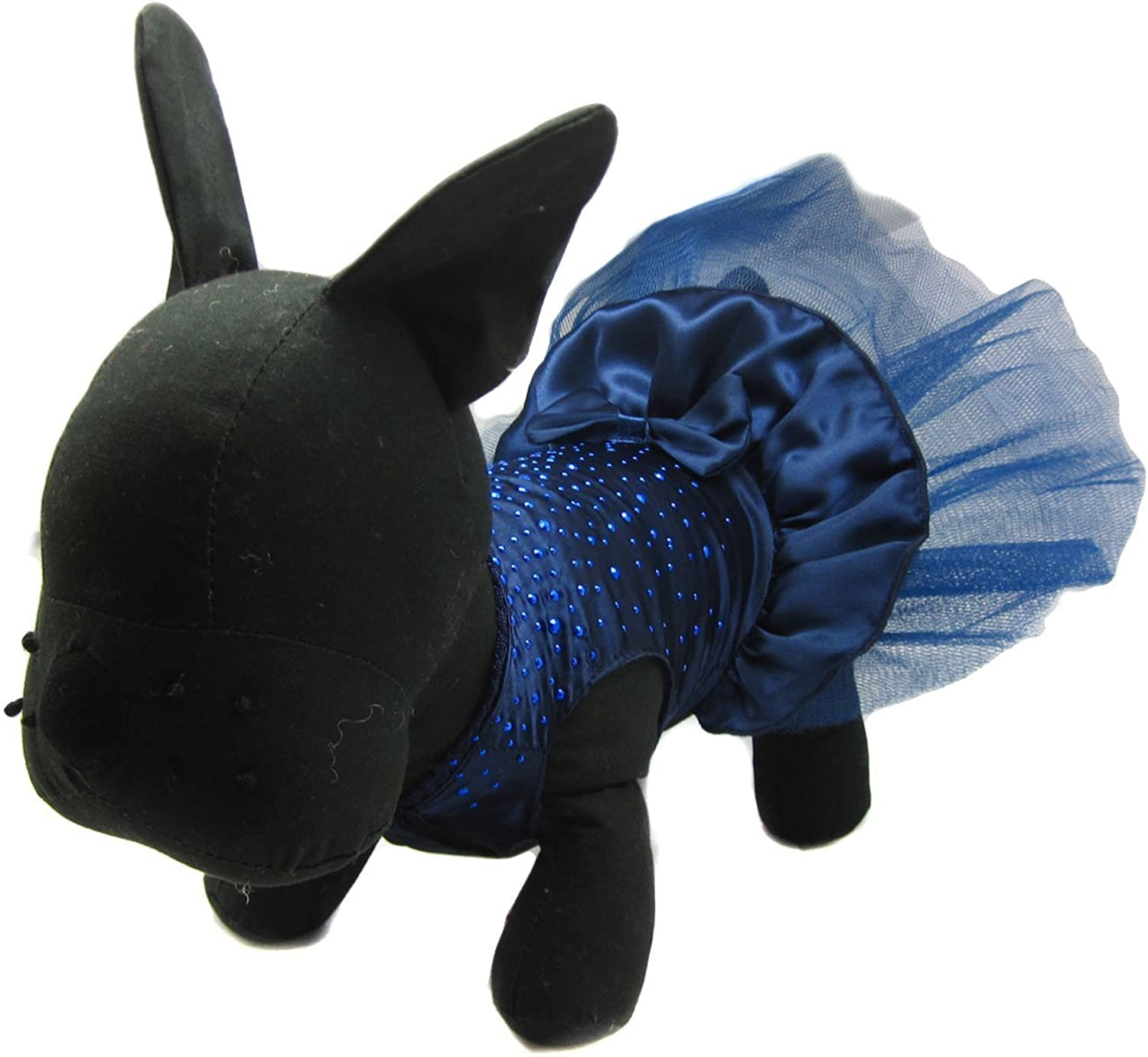 Alfie Pet by Petoga Couture  Shirley Tutu Party Dress  color  Navy, Size  Medium